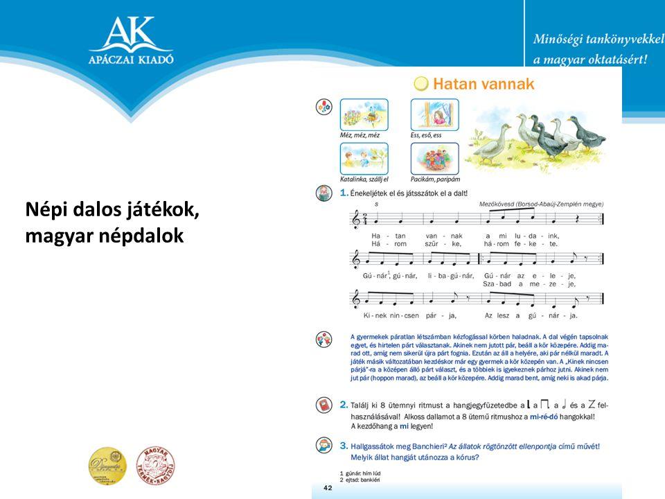 Népi dalos játékok, magyar népdalok