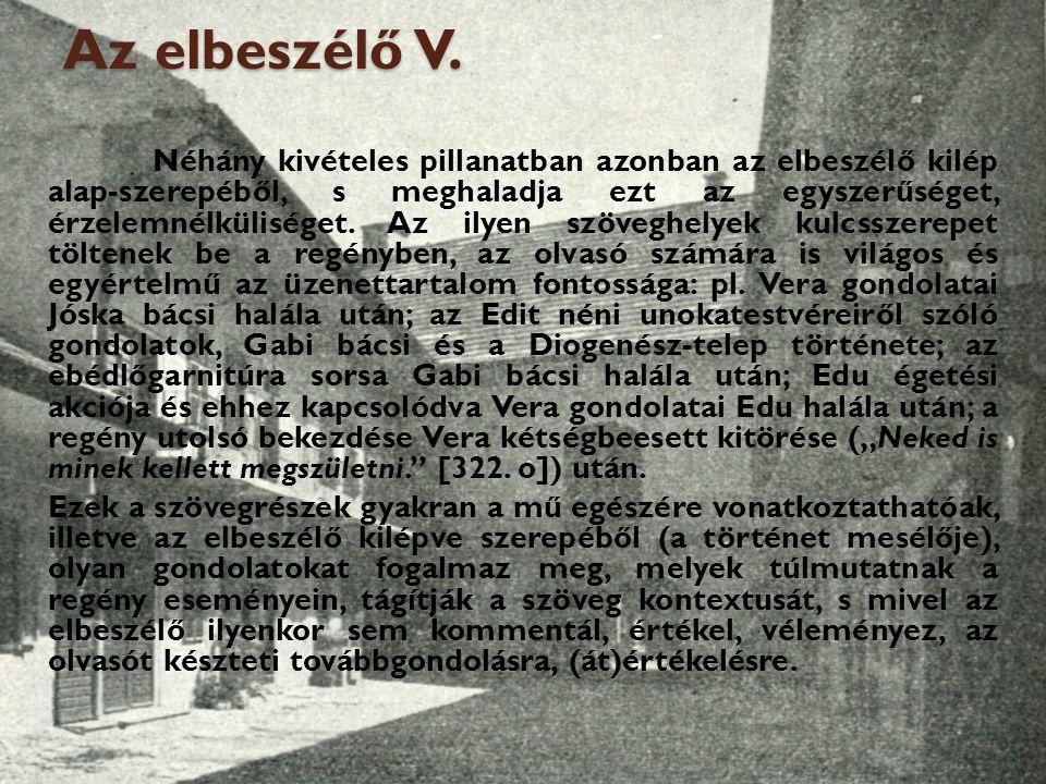 Az elbeszélő V.