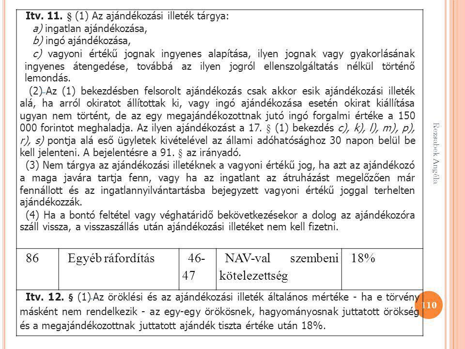 NAV-val szembeni kötelezettség 18%