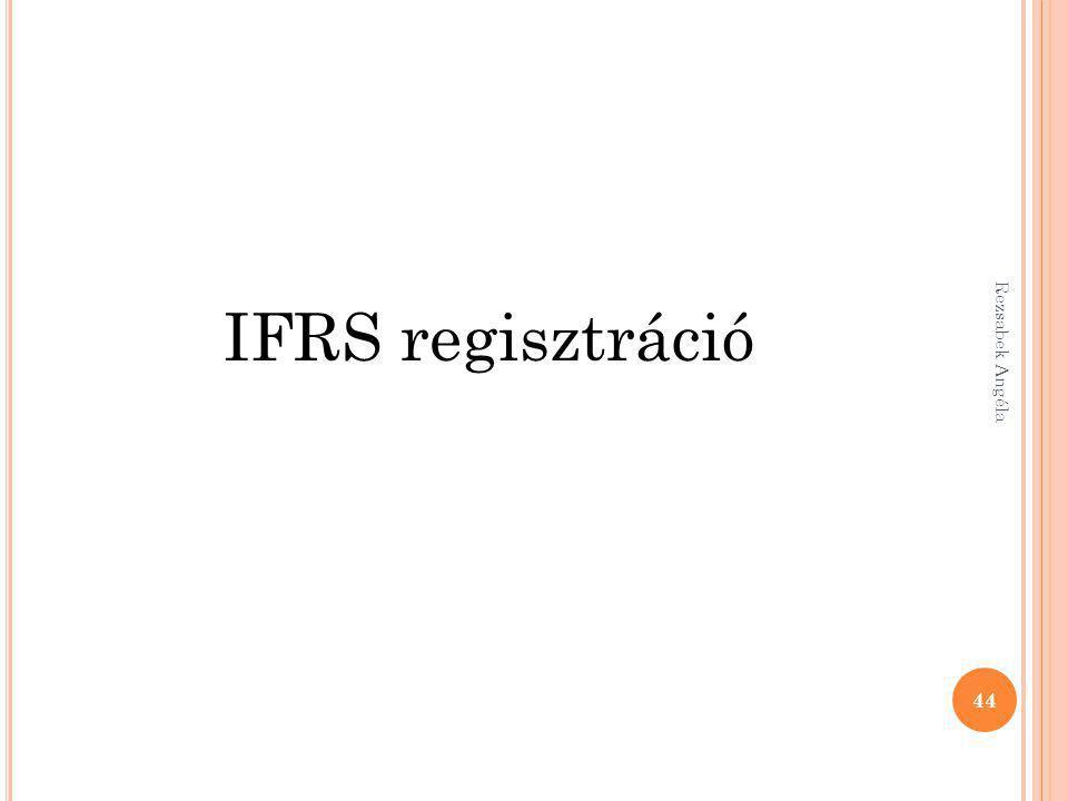 IFRS regisztráció Rezsabek Angéla
