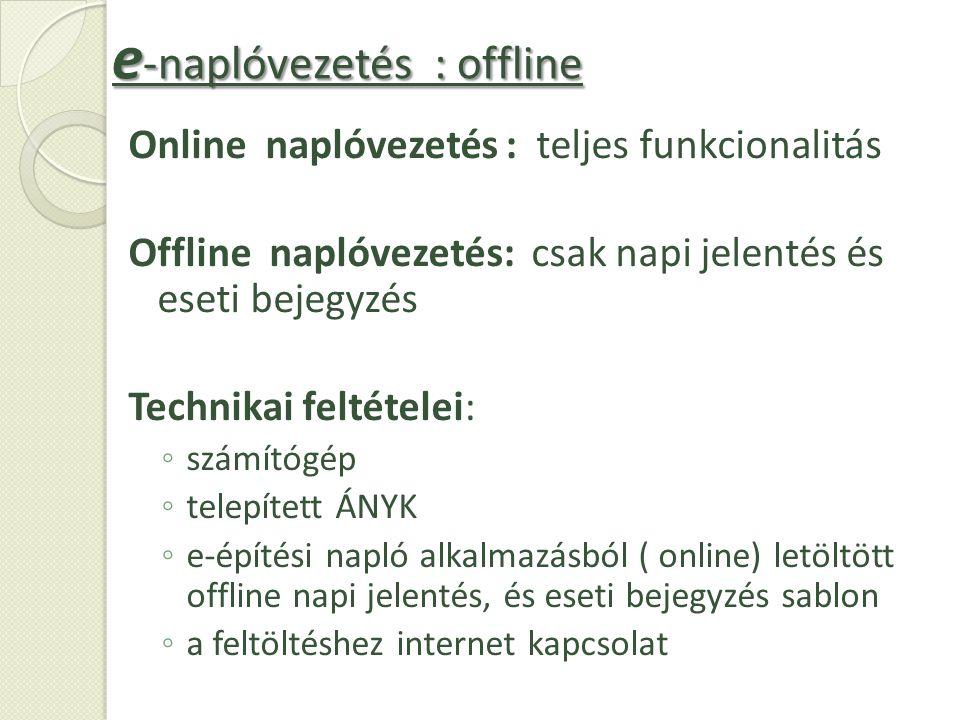 e-naplóvezetés : offline