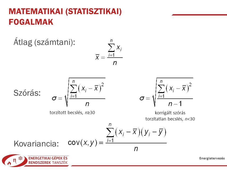 Matematikai (statisztikai) fogalmak