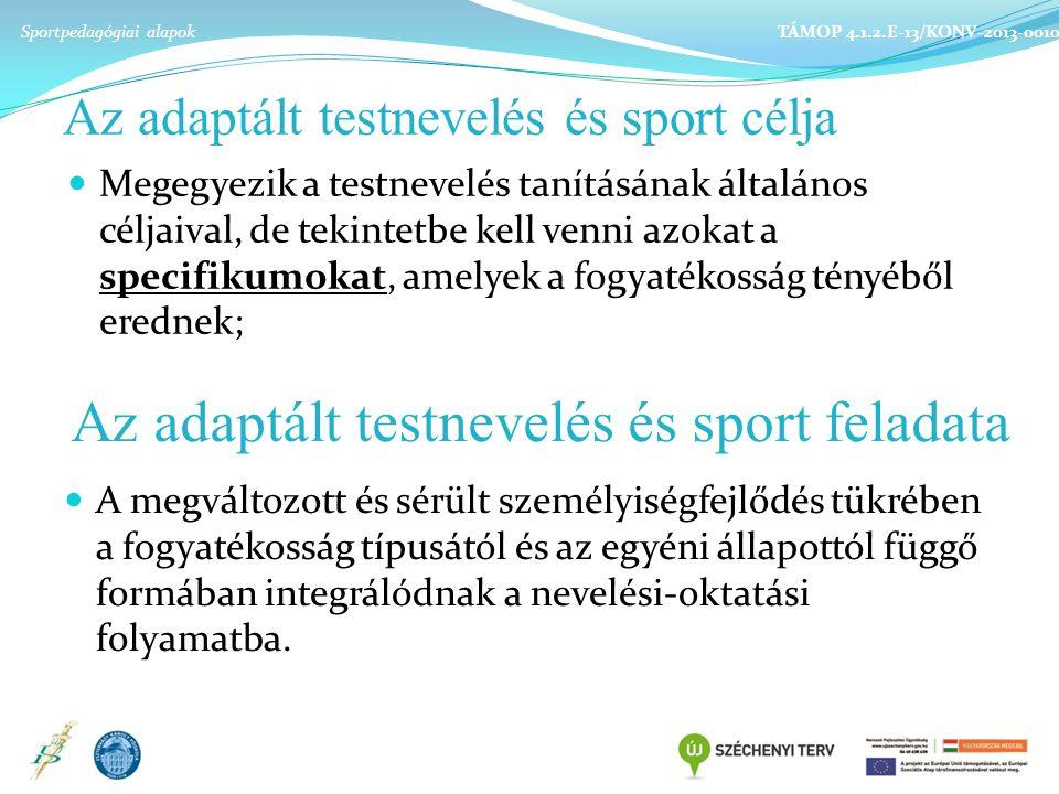 Az adaptált testnevelés és sport célja