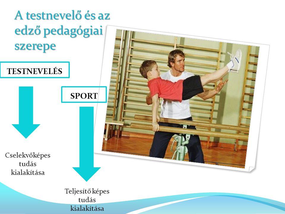 A testnevelő és az edző pedagógiai szerepe