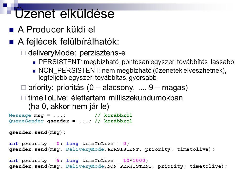 Üzenet elküldése A Producer küldi el A fejlécek felülbírálhatók: