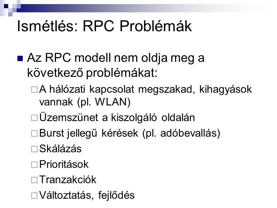 Ismétlés: RPC Problémák