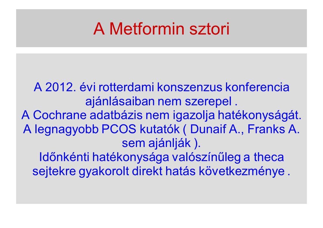 A Metformin sztori A 2012. évi rotterdami konszenzus konferencia