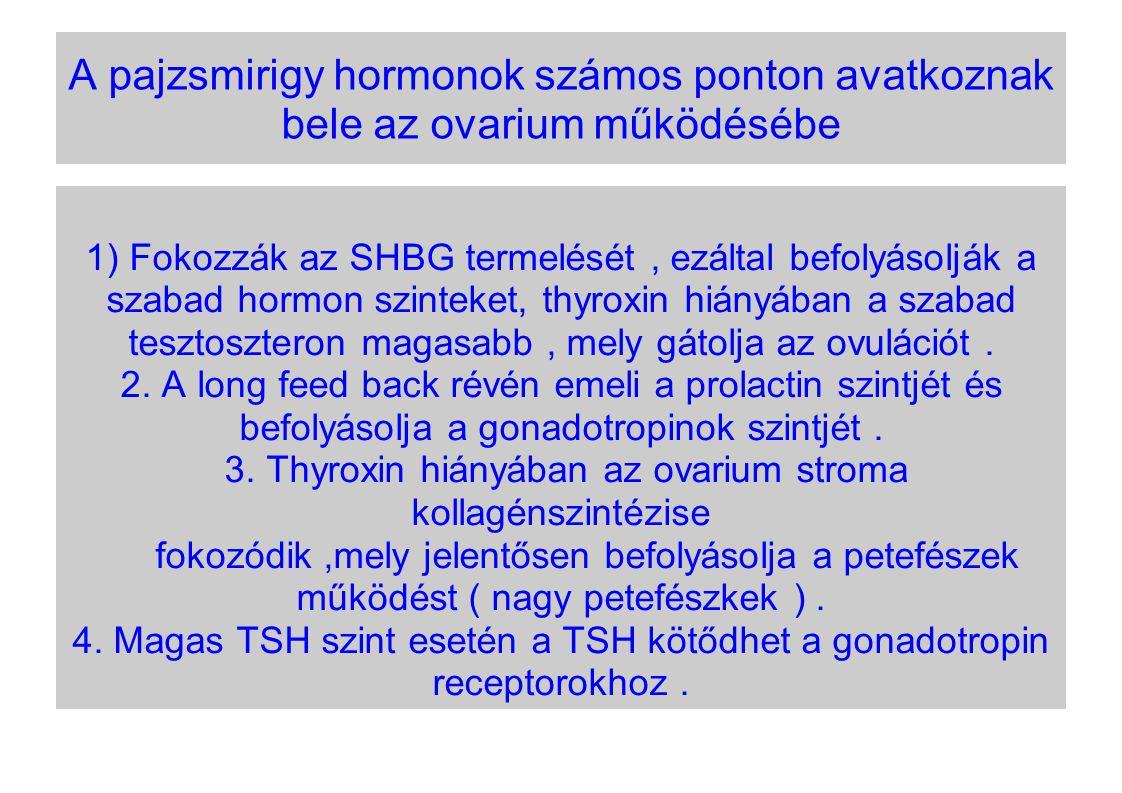 A pajzsmirigy hormonok számos ponton avatkoznak bele az ovarium működésébe