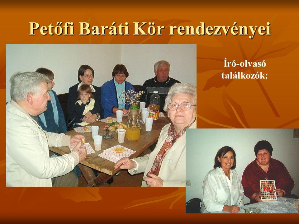 Petőfi Baráti Kör rendezvényei