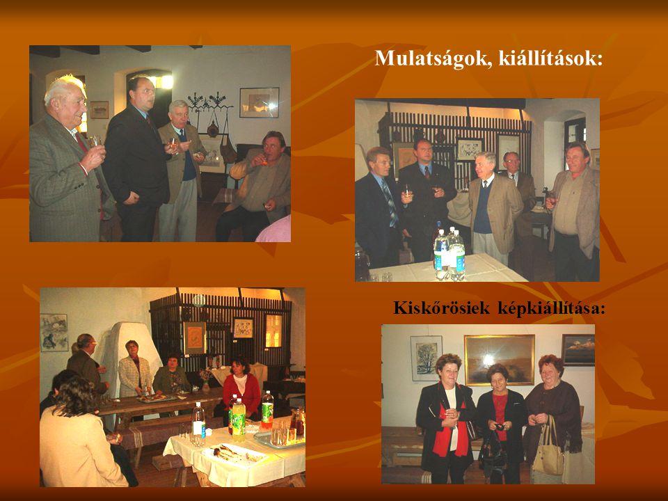 Mulatságok, kiállítások: Kiskőrösiek képkiállítása: