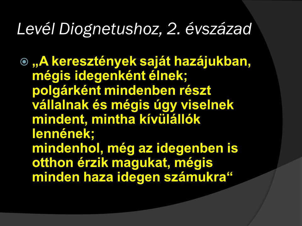 Levél Diognetushoz, 2. évszázad