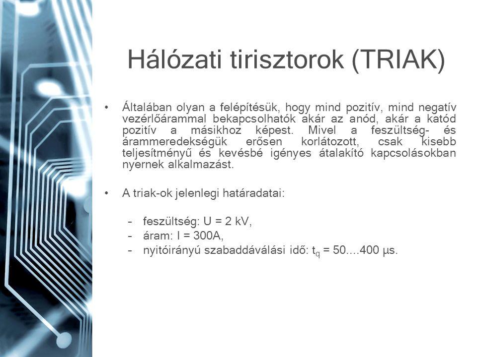 Hálózati tirisztorok (TRIAK)