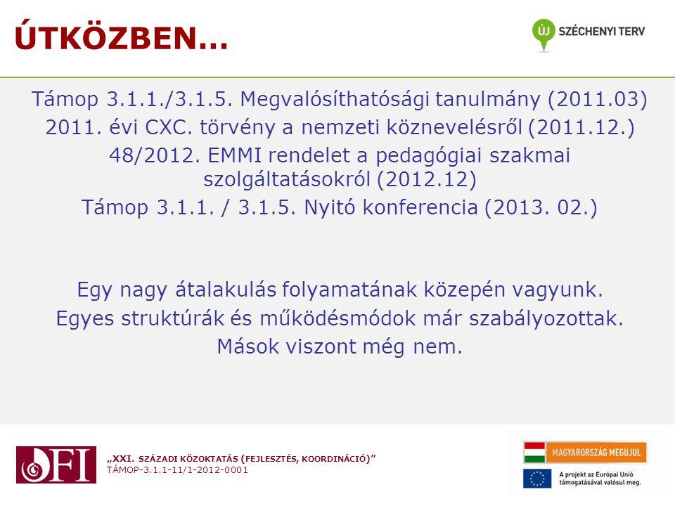ÚTKÖZBEN… Támop 3.1.1./3.1.5. Megvalósíthatósági tanulmány (2011.03)