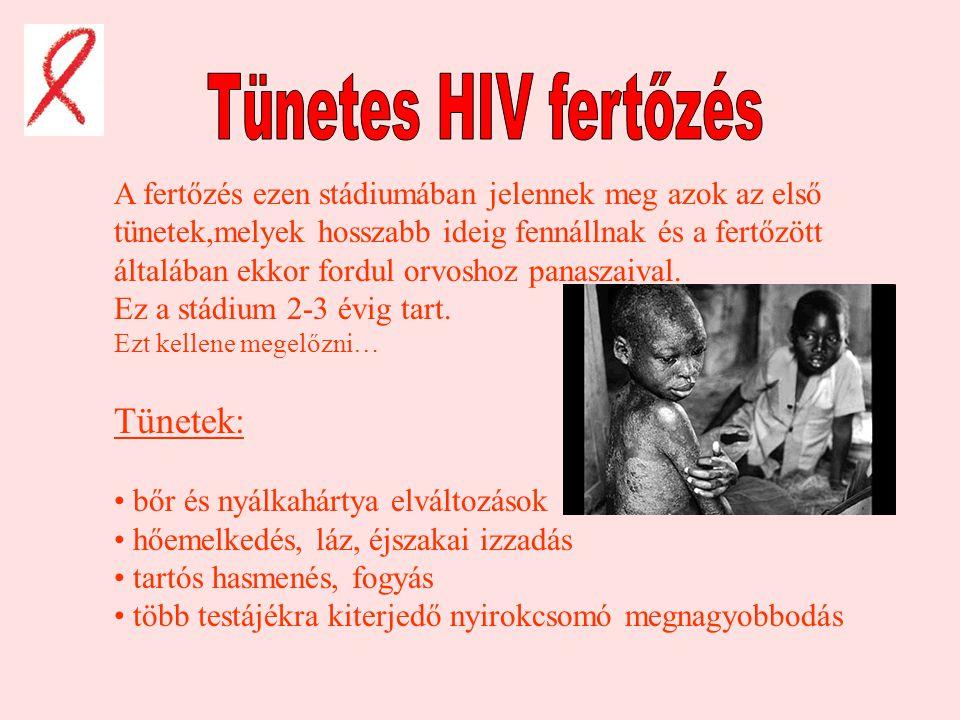 Tünetes HIV fertőzés Tünetek: