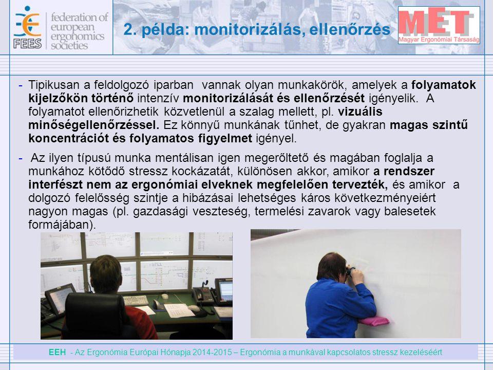 2. példa: monitorizálás, ellenőrzés