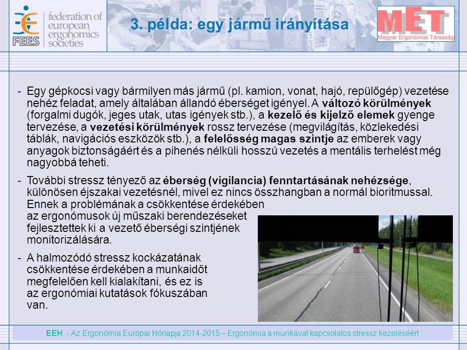 3. példa: egy jármű irányítása