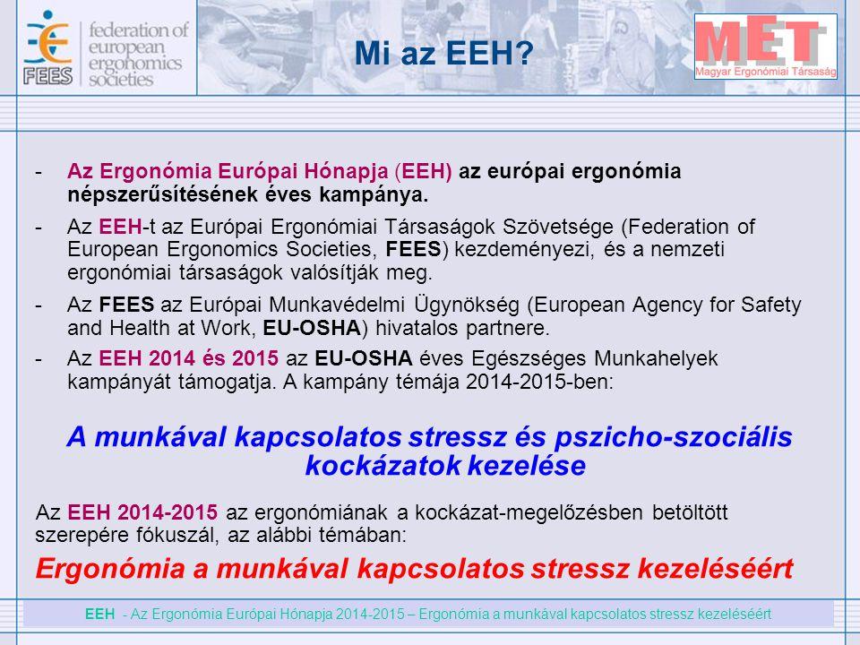 Mi az EEH Az Ergonómia Európai Hónapja (EEH) az európai ergonómia népszerűsítésének éves kampánya.