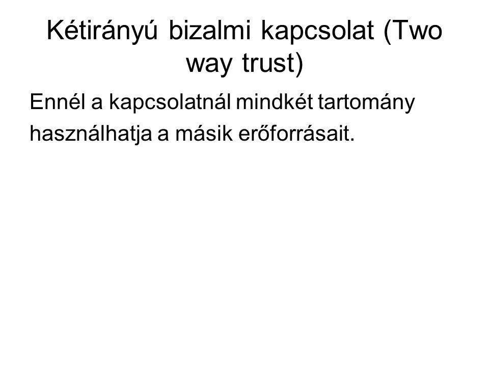 Kétirányú bizalmi kapcsolat (Two way trust)