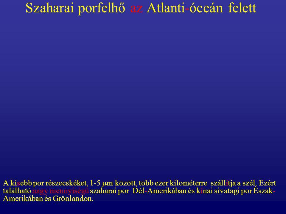 Szaharai porfelhő az Atlanti-óceán felett