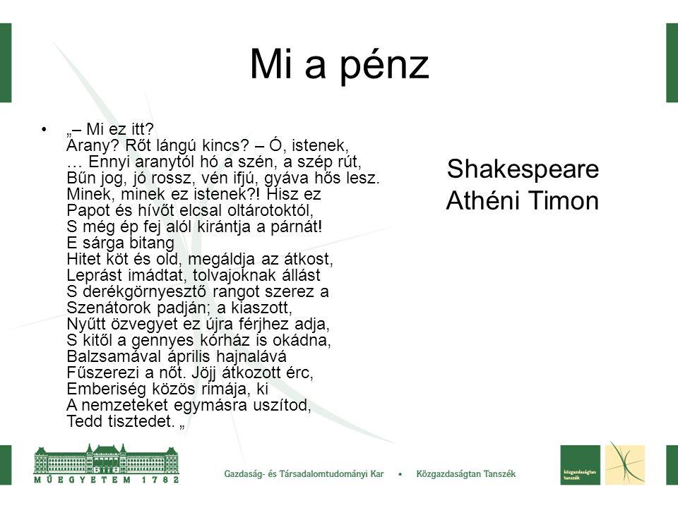 Mi a pénz Shakespeare Athéni Timon