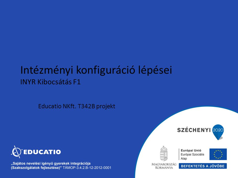 Educatio NKft. T342B projekt