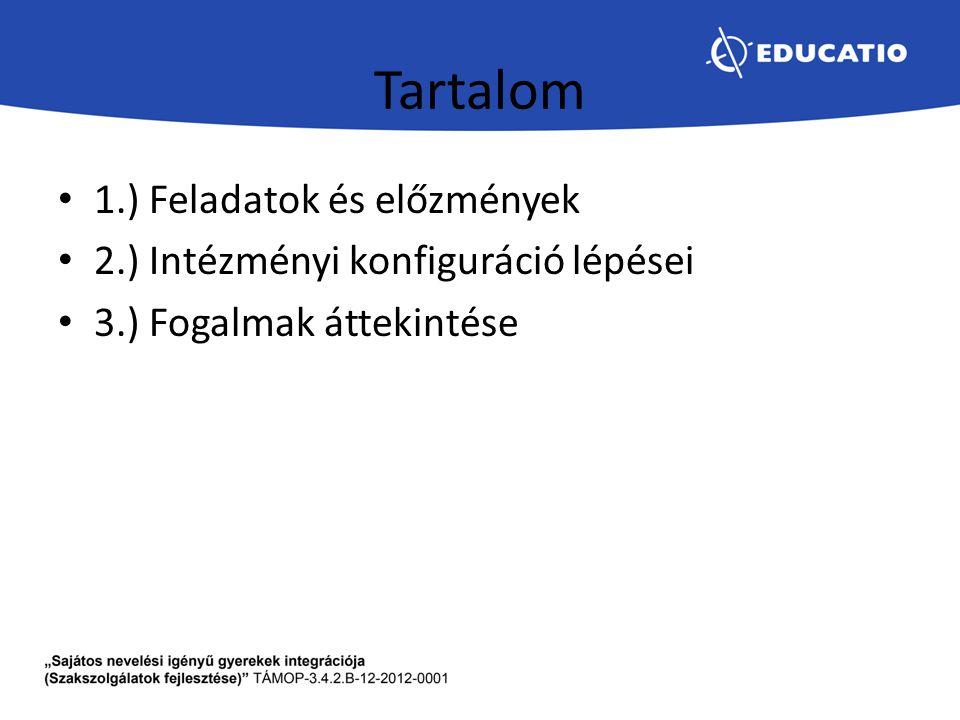 Tartalom 1.) Feladatok és előzmények