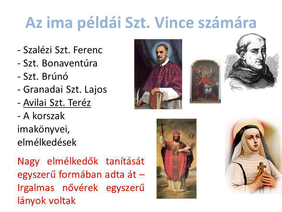 Az ima példái Szt. Vince számára