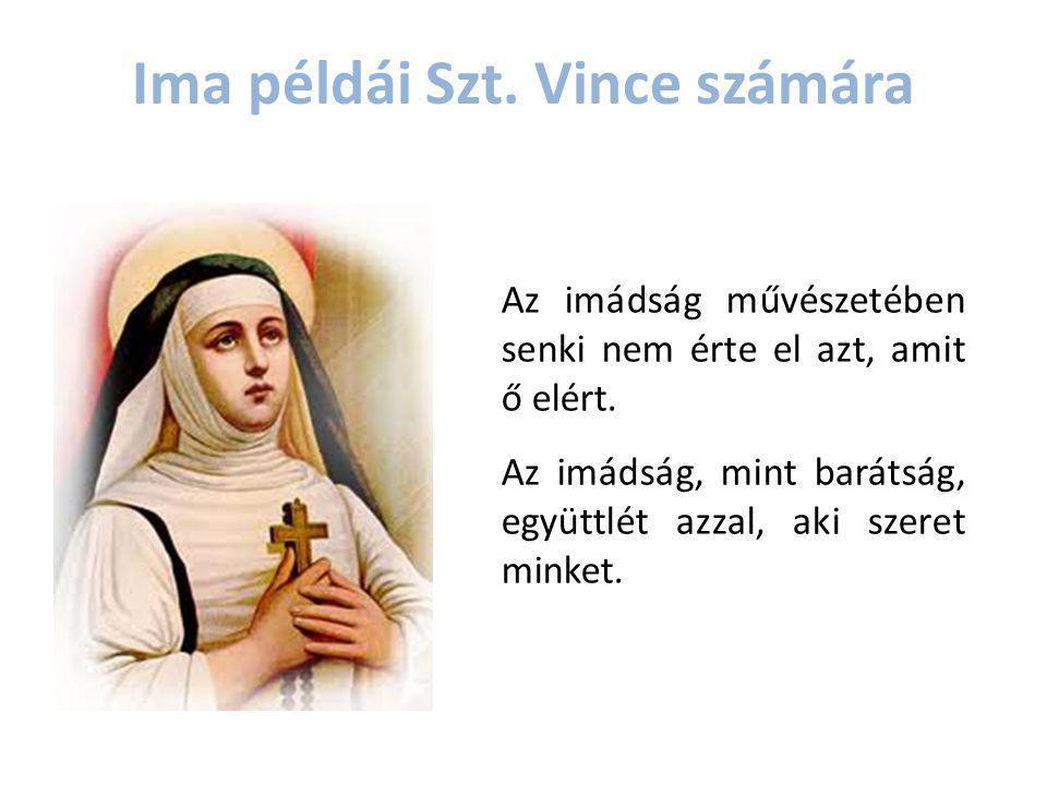 Ima példái Szt. Vince számára