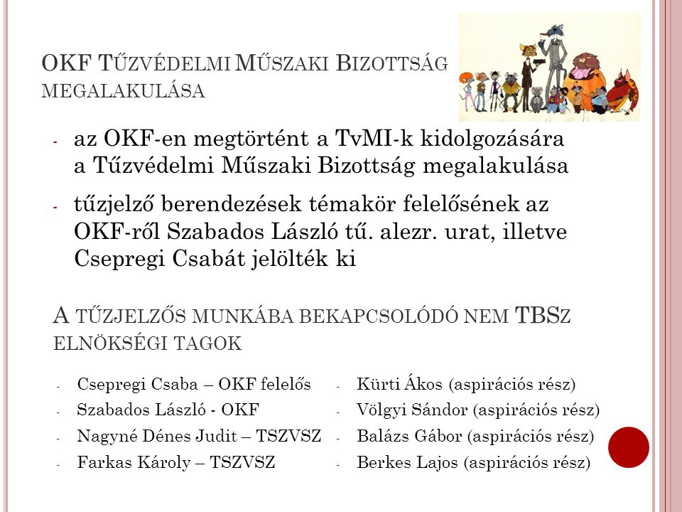 OKF Tűzvédelmi Műszaki Bizottság megalakulása