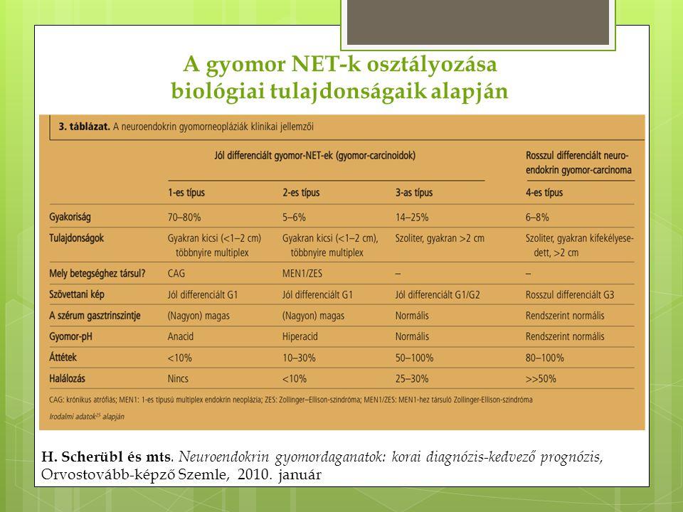 A gyomor NET-k osztályozása biológiai tulajdonságaik alapján