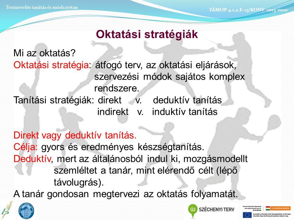 Oktatási stratégiák Mi az oktatás