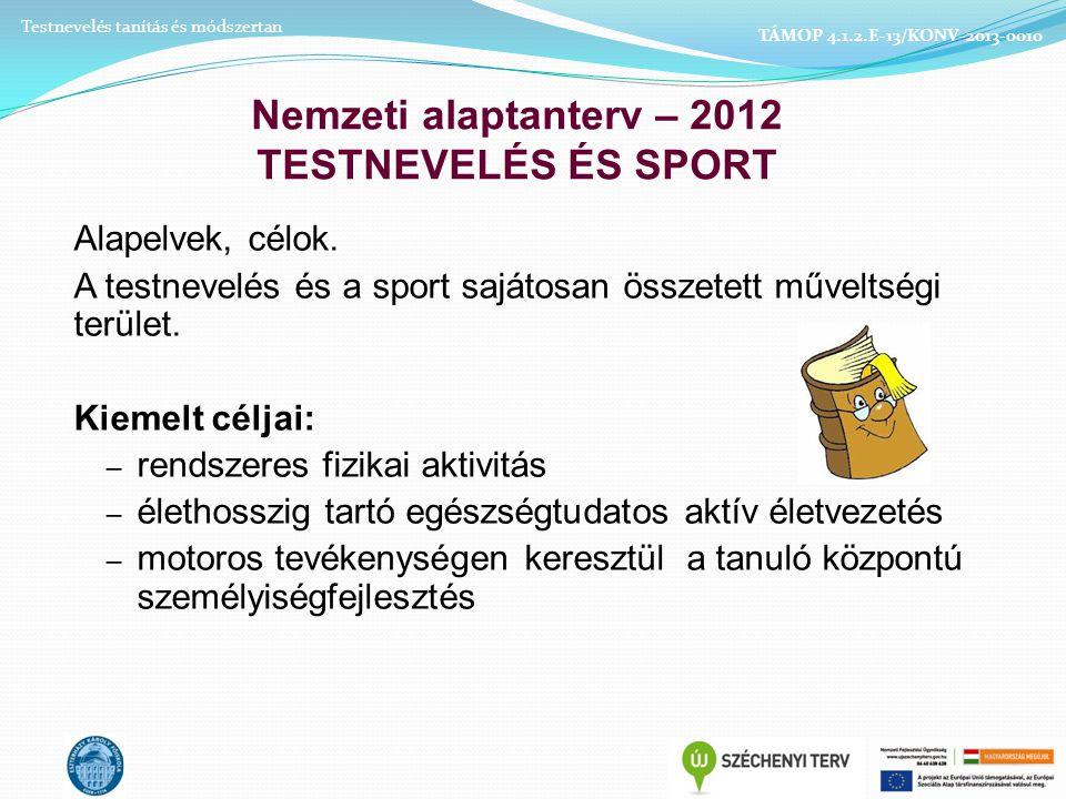 Nemzeti alaptanterv – 2012 TESTNEVELÉS ÉS SPORT