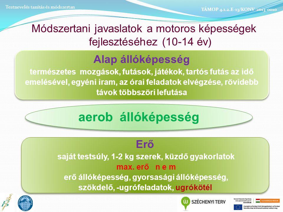 Módszertani javaslatok a motoros képességek fejlesztéséhez (10-14 év)