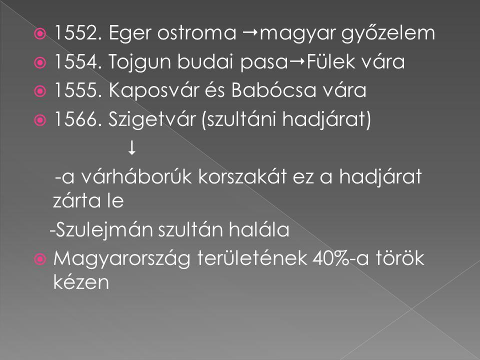 1552. Eger ostroma magyar győzelem