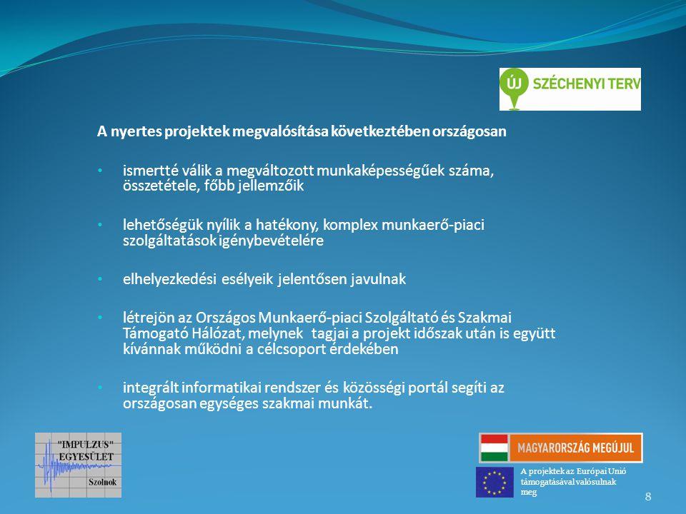 A nyertes projektek megvalósítása következtében országosan