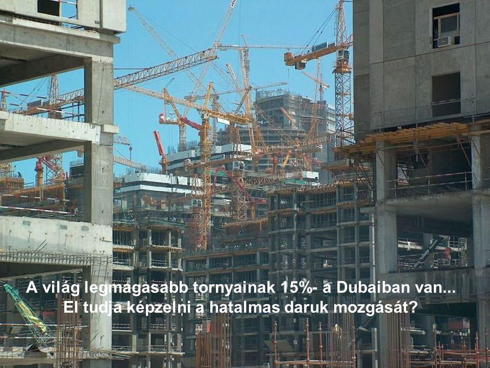 A világ legmagasabb tornyainak 15%- a Dubaiban van