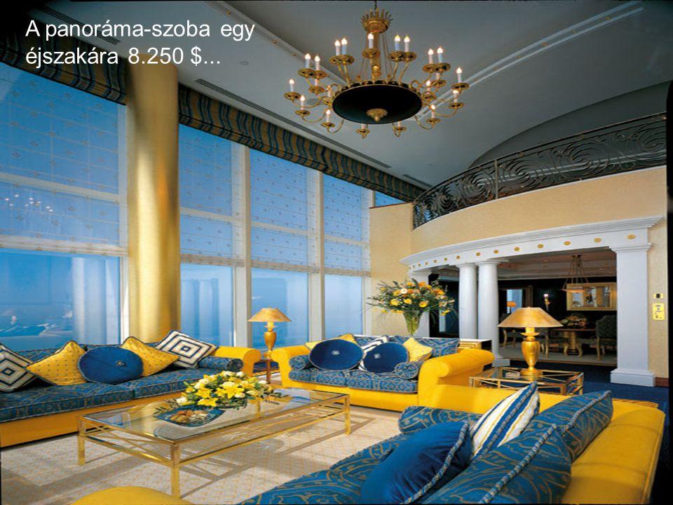 A panoráma-szoba egy éjszakára 8.250 $...