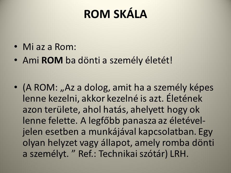 ROM SKÁLA Mi az a Rom: Ami ROM ba dönti a személy életét!