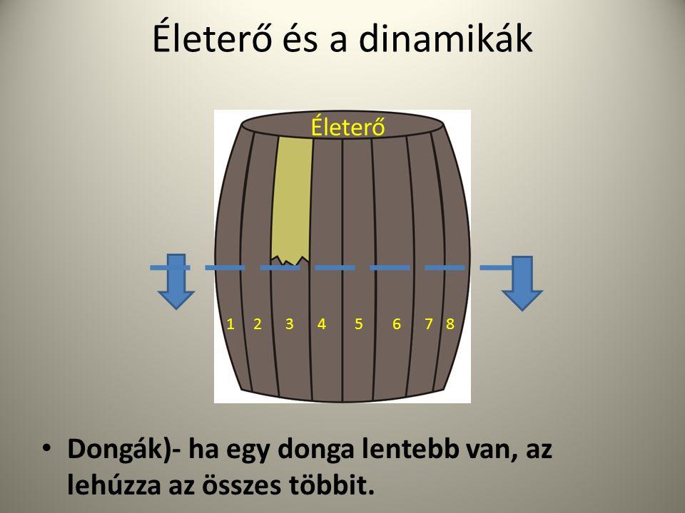 Életerő és a dinamikák Életerő. Dongák)- ha egy donga lentebb van, az lehúzza az összes többit. 1.