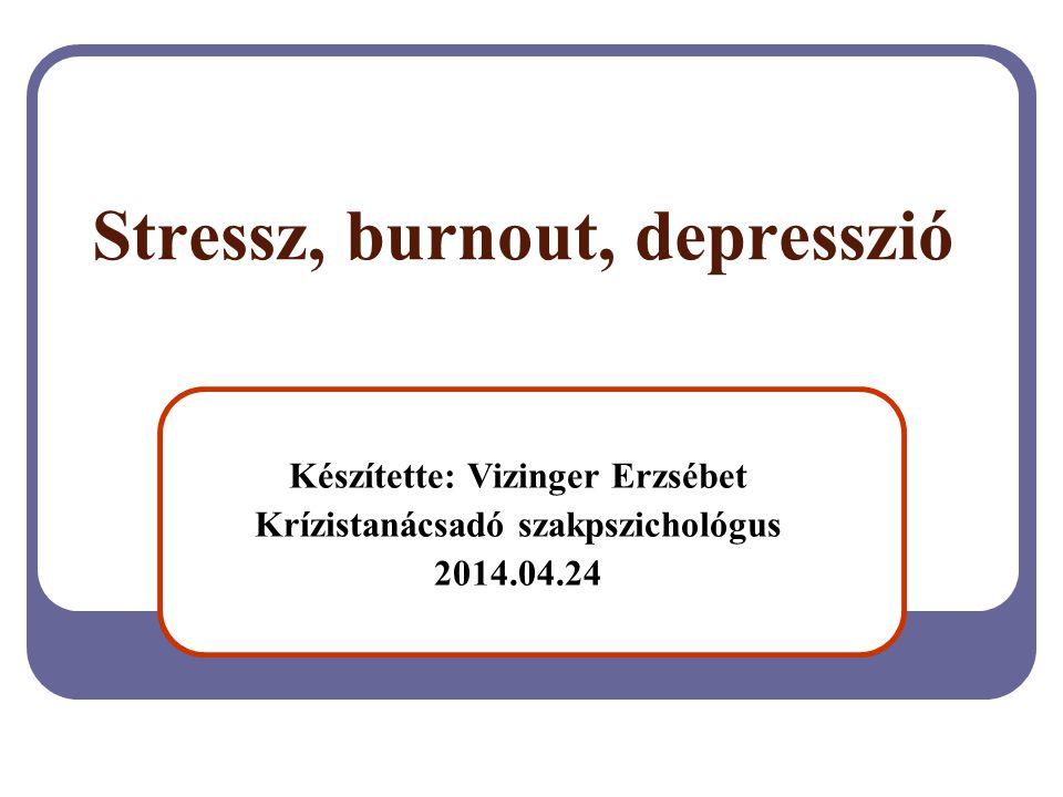 Stressz, burnout, depresszió