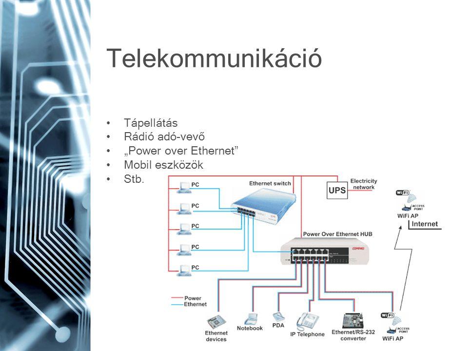 """Telekommunikáció Tápellátás Rádió adó-vevő """"Power over Ethernet"""