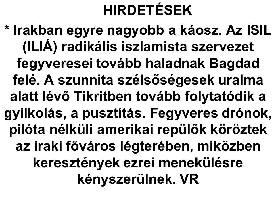 HIRDETÉSEK