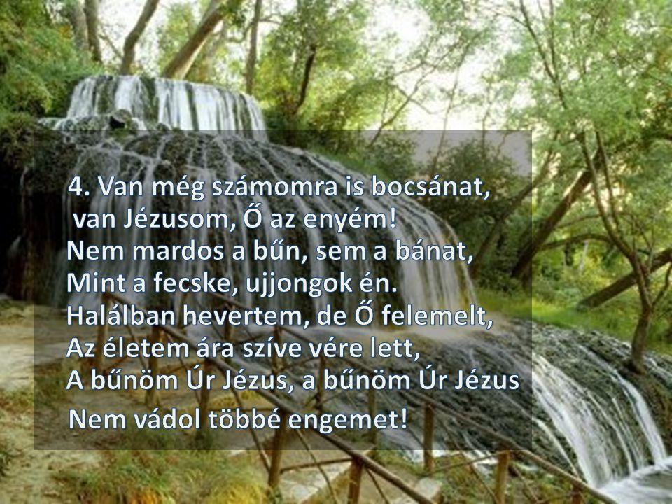 4. Van még számomra is bocsánat, van Jézusom, Ő az enyém