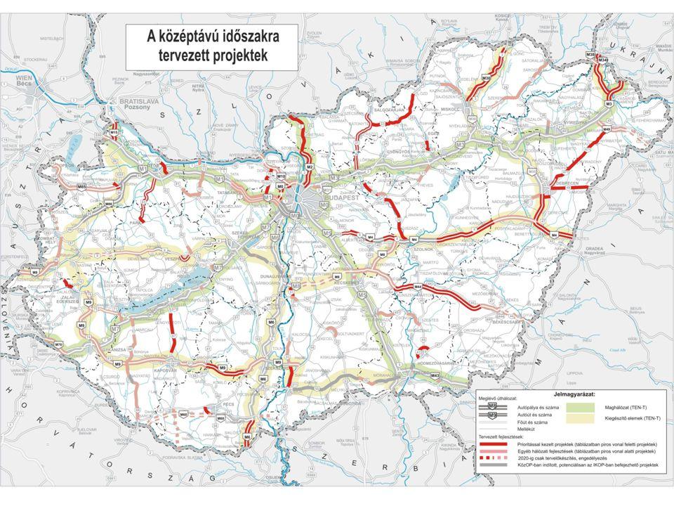 Az NKS keretében kidolgozásra került a középtávú időszakban tervezett közúti fejlesztések indikatív projektlistája.