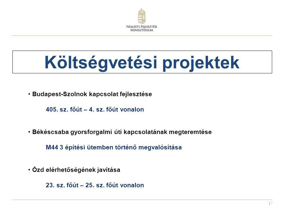 Költségvetési projektek
