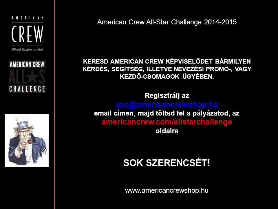 SOK SZERENCSÉT! asc@americancrewshop.hu