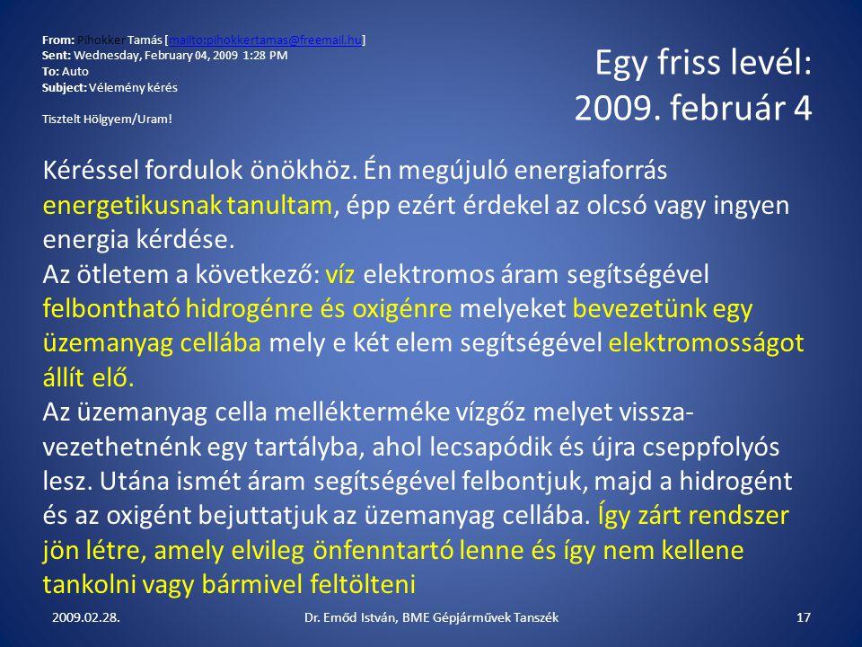 Dr. Emőd István, BME Gépjárművek Tanszék
