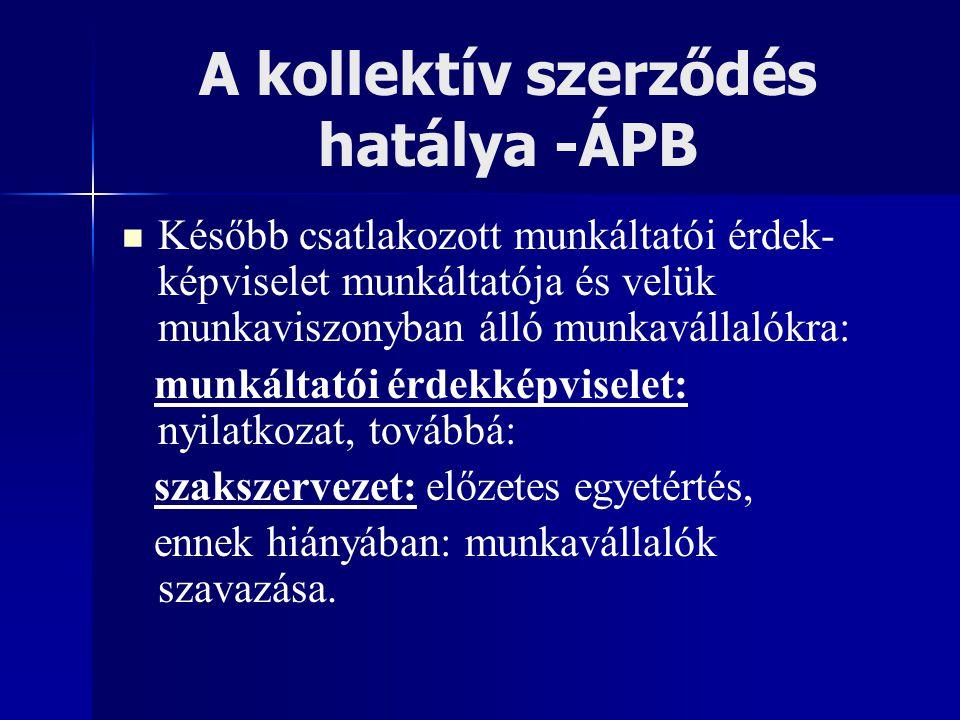 A kollektív szerződés hatálya -ÁPB