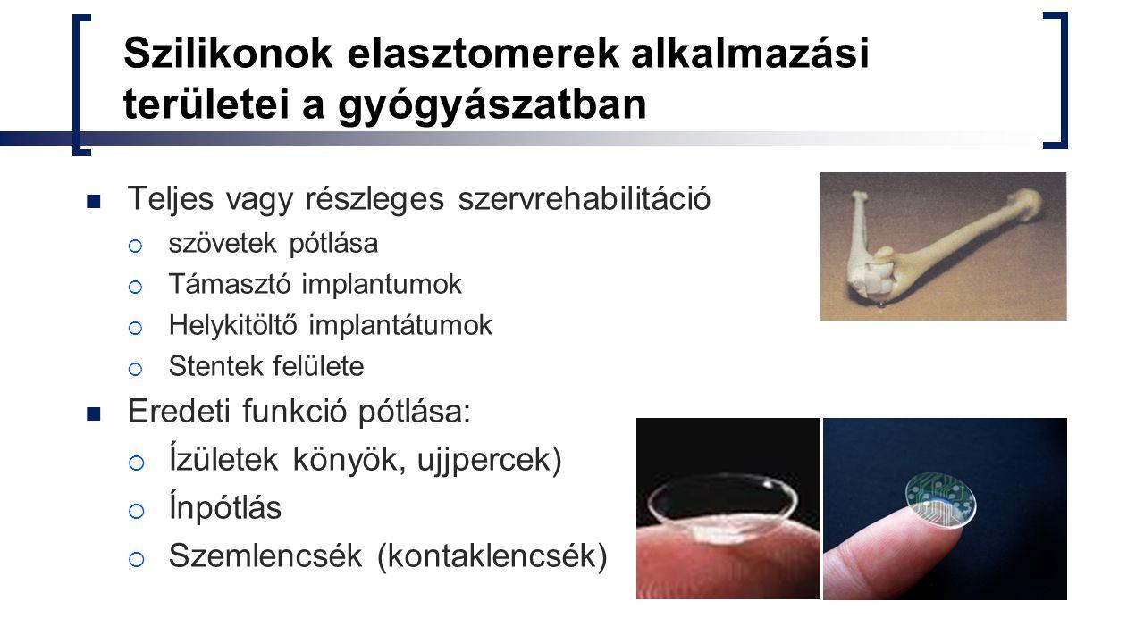 Szilikonok elasztomerek alkalmazási területei a gyógyászatban