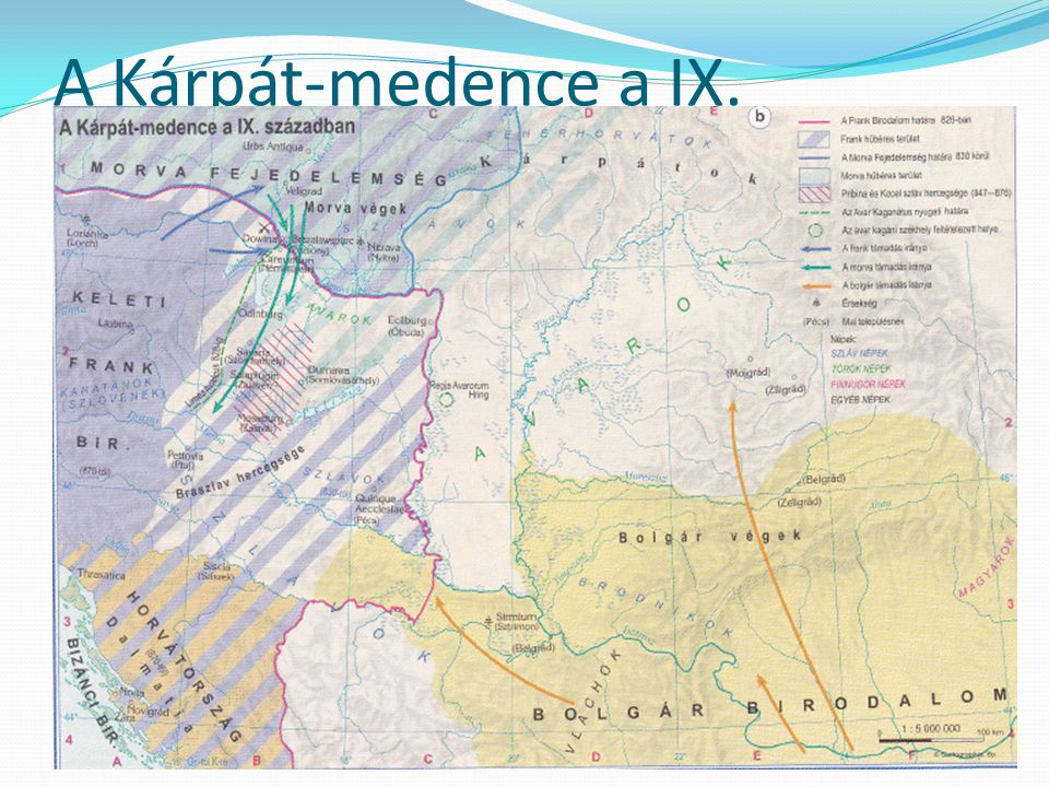 A Kárpát-medence a IX. században